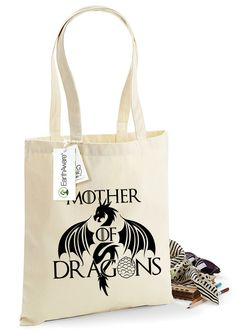 Shop Now: Mother of Dragons Organic Cotton Tote Bag -  Bag for Life - 100% Organic Cotton, Canvas Tote Bag, Shopping Bag, TS1008 is available in my shop ✨ https://www.etsy.com/listing/463808568/mother-of-dragons-organic-cotton-tote?utm_campaign=crowdfire&utm_content=crowdfire&utm_medium=social&utm_source=pinterest