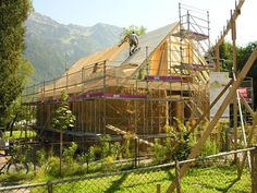 Strohballenhaus in Glarus Adobe, Straw Bales, Passive House, Environmentalist, Green Building, Ecology, Sustainability, Eco Friendly, Real Estate