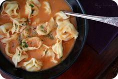 tomato garlic soup...who knew you could make garlic broth? >> mmm... garlic broth!