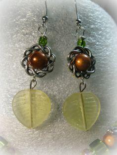 Autumn Leaves Glass Bead Earrings