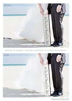 removal of unwanted objects on wedding pictures in photoshop
