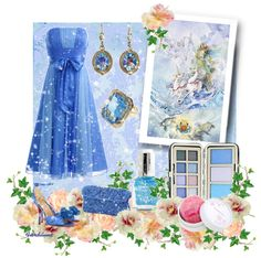 """""""The Colors: Cornflower Blue"""" by fiordiluna on Polyvore"""