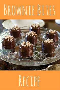 These easy brownie bites are the perfect dessert to bring to your ladies luncheon, work function, or just to give a friend a sweet gift.