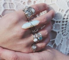 jewels ring silver stones jewelry silver ring boho chic boho jewelry bohemian phone cover crystal rings and tings vintage hair accessory crystal quartz tumblr hippie blouse gemstone ring pink blue boho festival summer natural gem stone cute www.ebonylace.net so many beautiful colors looks great i need them all of them pls help me look at this sooo cool lovely amazing neeeeeeed so pls help dont tell me i cant big rings wihte white light blue colorful