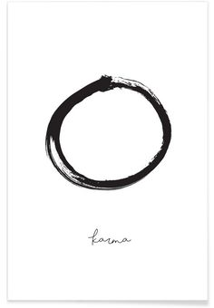 Karma as Premium Poster by Honeymoon Hotel | JUNIQE