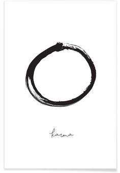 Karma als Premium Poster von Honeymoon Hotel | JUNIQE