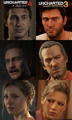 Uncharted, Difference between Uncharted 3's and Uncharted 4's Character Models. It takes some time to get used to but I am liking the new Character Models.