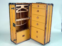 Old steamer trunk - used to have one of these. Can't imagine what traveling like this would have been like.