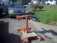 Bender Stand by pdxblazer -- Homemade bender stand adapted from a commercial engine stand and reinforced with angle iron. Bender can be oriented either horizontally or vertically. Powered by a hydraulic ram. http://www.homemadetools.net/homemade-bender-stand-3