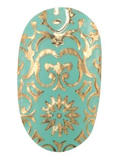 Revlon by Marchesa Nail Art 3D Jewel Appliqués in 24K Brocade http://beautyeditor.ca/2013/11/04/revlon-by-marchesa/