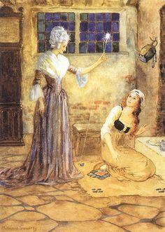 Illustration by Millicent Sowerby (Cinderella)