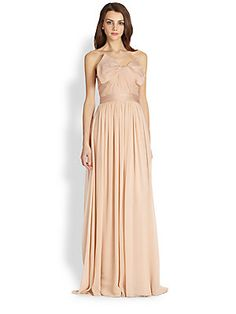 Notte by Marchesa Silk Chiffon Strapless Gown (way on sale, only size 10 left though...)