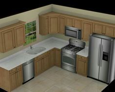 Kitchen Awesome L Shape White Marble Plan With Single Window And Square Rise Panel Hanging Cabinet Design