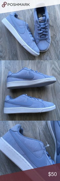 Nike ice blue suede sneakers 7 new! Nike ice blue suede shoes 7 NWT. Brand new! Lovely color Nike Shoes Sneakers