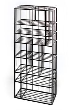 Custom steel bookshelf made from 20x20mm square tubing and 6mm rod