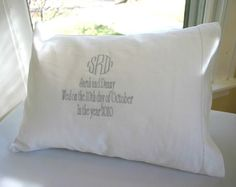 celebrate the wedding with this beautiful monogrammed pillow  monogramshopping.com