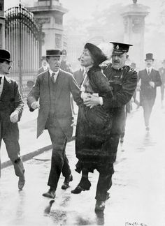 Suffragettes vs. Police: Vintage Photos of Women's Suffrage Movements, ca. 1910s