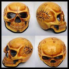 Skull Motorcycle Helmet | Skeleton Skull Fullface Airbrush Motorcycle Helmetebay - motorcycle ...