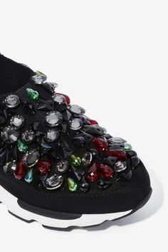 Jeffrey Campbell Cruisin' Beaded Neoprene Sneaker - Shoes | Flats | Jeffrey Campbell