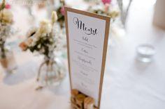 Vervliest und zugenäht: Menükarten und Tischplan {Hochzeits-DIY}
