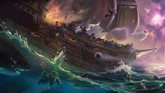Uncommon's high-seas journey experiment Sea of Thieves for PC and Xbox One has long gone thru a number of noteworthy adjustments since its release. Graphic Wallpaper, Computer Wallpaper, Hd Wallpaper, Wallpapers, Skull Wallpaper, Wallpaper Ideas, O Kraken, Sea Of Thieves Game, Xbox One