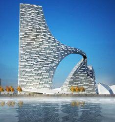 Copenhagen Harbor Bridge, future, building, architecture, futuristic, Dania
