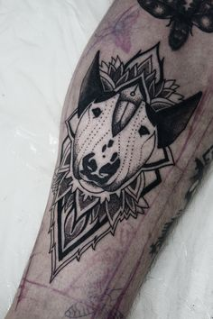 Artistic Bull Terrier Tattoo                                                                                                                                                                                 More