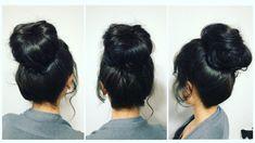 #updo #bun #hairstyle #blackhair #hairtrends #hairbyannamary