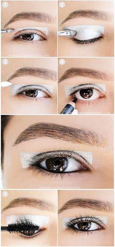 Really digging this modern, metallic statement makeup!