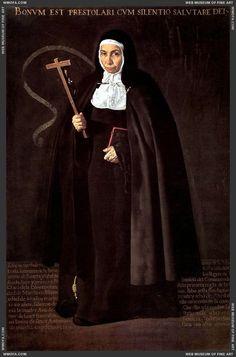 Abbess Jeronima de la Fuente 1620  Velazquez, Diego