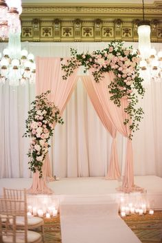 30 Popular Dusty Rose Wedding Ideas Popular Dusty Rose Wedding Ideas ★ dusty rose wedding indoor ceremony with arch decorated with roses greenery and cloth candle aisle elisa bricker Indoor Ceremony, Ceremony Arch, Wedding Ceremony, Wedding Bride, Indoor Wedding Arches, Boho Wedding, Rustic Wedding, Wedding Entrance, Glamorous Wedding