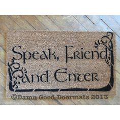 Tolkien Speak Friend and Enter with TREES by DamnGoodDoormats