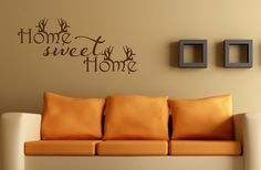 Home Sweet Home Wall Decal Antler Decor Hunting by NewYorkVinyl, $12.00
