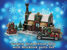 Lego Technic, Lego Duplo, Lego Winter Village, Light Brick, Brick Block, Lego Group, Lego Projects, Chocolate Factory, Lego Instructions