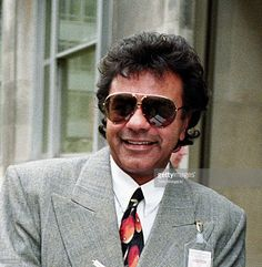 Johnny Mathis during Johnny Mathis Arrives at Gloria Hunniford's Radio Show in…