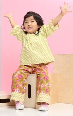 Polka Dots and Floral Pant Set  Size 2T by sewmeamemory on Etsy, $74.00