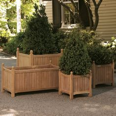 Oxford Garden Wood 38L x 19W in. English Planter - Garden Planters at Simply Planters