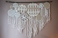 Dream Catcher, Bouquet, Chandelier, Ceiling Lights, Architecture, Home Decor, Creative Crafts, Lace, Projects