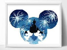 Thirty Magnificent Good ideas For Disney Cross Stitch Patterns, Modern Cross Stitch Patterns, Cross Stitch Designs, Simple Cross Stitch, Easy Cross, Mouse Silhouette, Disney Silhouettes, Minnie, Cross Stitching