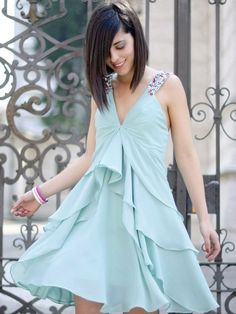 blue dress