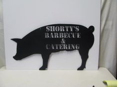 Hog Pig Silhouette Custom Metal Sign Farm  Wall Yard Art by cabinhollow on Etsy https://www.etsy.com/listing/36951273/hog-pig-silhouette-custom-metal-sign