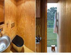 Fotos, renders, y plano de la casa minimalista MIniMod. Está hecha con módulos prefabricados, con los que se pueden formar hoteles, refugios, casas,... #Casasminimalistas