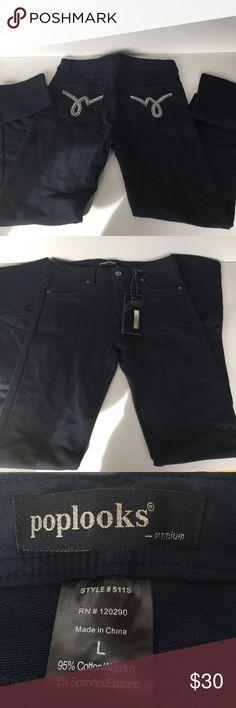 5b47bd6df162a Jeggings Dark Blue Denim NWT Dark blue denim leggings.