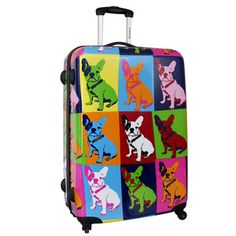 Bulldog Suitcase 77x53now featured on Fab