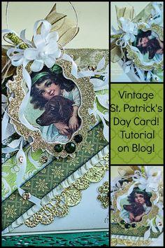 Vintage St. Patricks Day Card! #Silhouette #Craftysecrets #tutorial