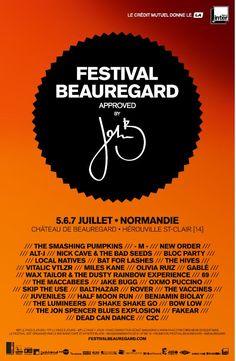 Festival de Beauregard #Beauregard #riffx #musique #affiche #festival #creditmutuel #herouville