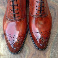 Bontoni 'Toto'' MTM in an Antiqued Blood Orange #Bontoni #Orange #Dapper #Sprezzatura #Style #Mensfashion #Fashion #Luxury #Shoeporn #ShoeofTheDay #Shoestagram #Shoes #Italian #BespokeMenswear #MadeToMeasure #Sartorial #Patina #Shoeshine #woodgrain #Art #ItalianLuxury #MadeInItaly #BontoniShoes #laceups #HandmadeShoes #Rakish #Italian #Inspiration #StyleIcon #Toto #Gentleman