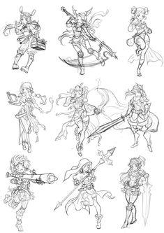 Idea sketches, Soyun Won on ArtStation at https://www.artstation.com/artwork/6YgaN