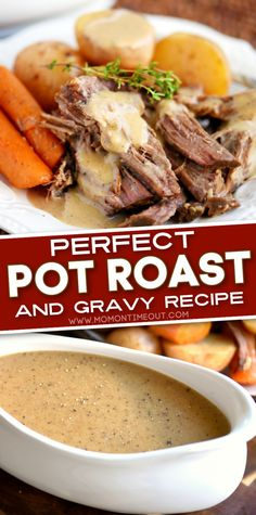 Say hello to your new weekend dinner staple! This classic recipe lets you have the perfect pot roast that is fall-apart tender, extra flavorful, and melts in your mouth. A mouthwatering gravy adds the finishing touch to this easy meal! Try this comfort food favorite! Perfect Pot Roast, Crockpot Recipes, Cooking Recipes, Food Dishes, Main Dishes, Best Dinner Recipes, I Love Food, Baked Mac, Classic Recipe