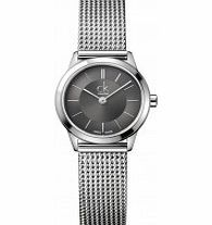 Calvin Klein Ladies Minimal Grey Silver Watch You have to hand it to Calvin Klein they know how to manufacture and design timeless watches. This Ladies Minimal Grey Silver Watch K3M23124 epitomises the Calvin Klein ethos creating functional well  http://www.comparestoreprices.co.uk/ladies-watches/calvin-klein-ladies-minimal-grey-silver-watch.asp